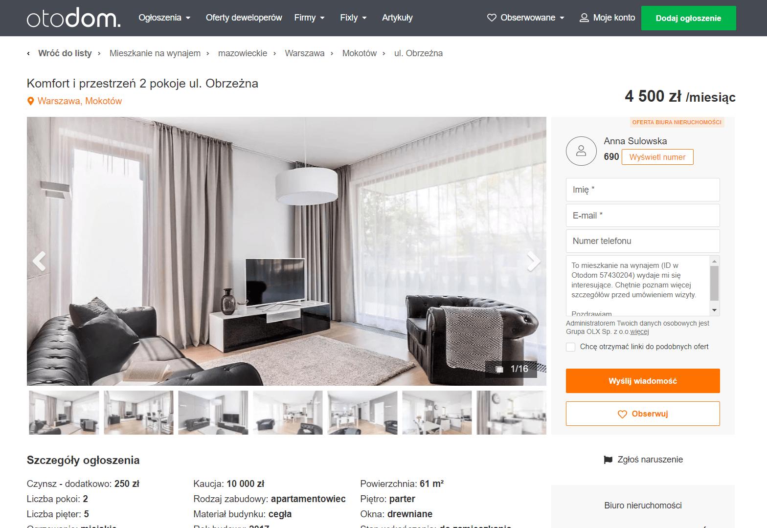 Поиск жилья в Польше